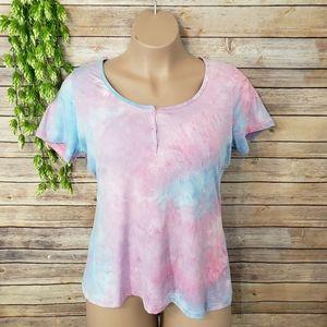 3/$20 Rue+ Tie Dye Short Sleeve Top Size 2X